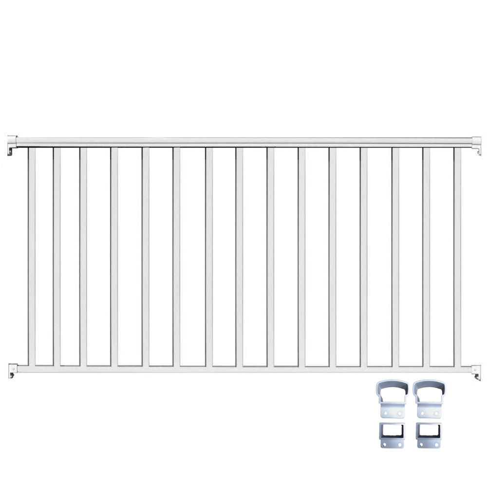 White Aluminum Picket Railing