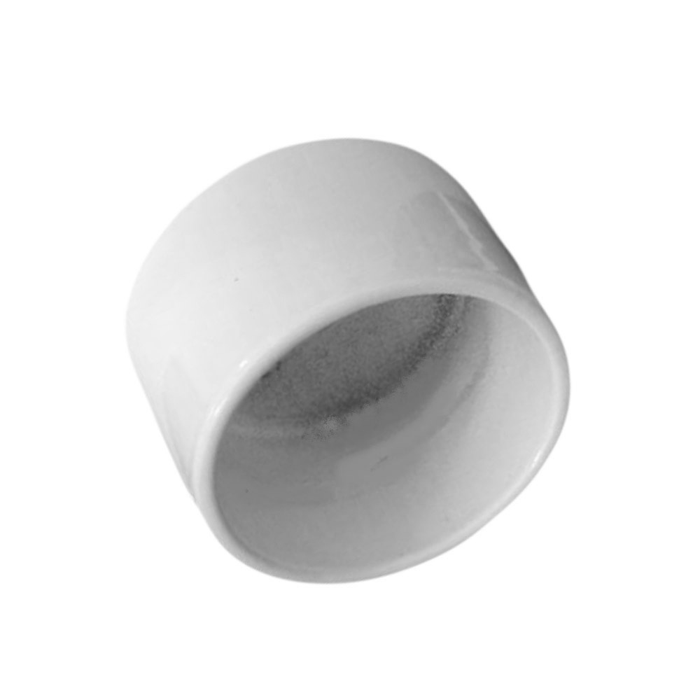 White Exterior termination bracket for 1.9 in. OD pipe