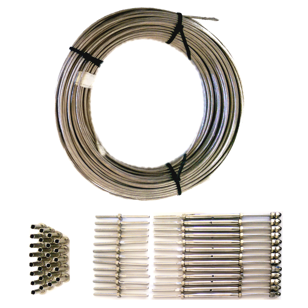 Cable Railing Kit - Threaded stud, and turnbuckles