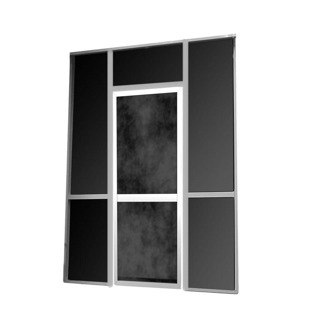 8ft x 8ft x 2 in screen wall with door