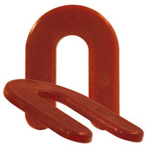Stacking Plastic Horseshoe Post Shims