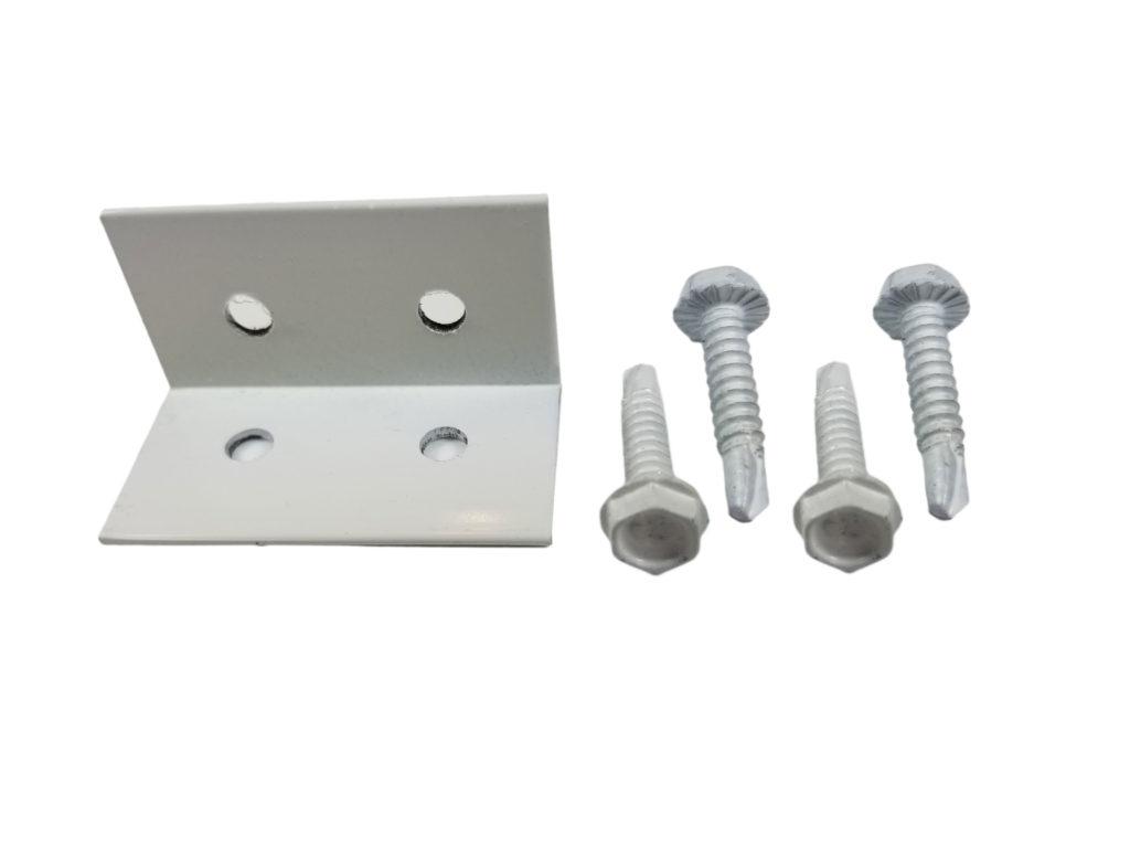 Aluminum L Angle Capri Clip w Fasteners