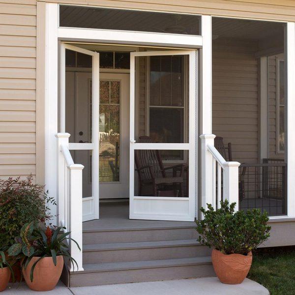 PCA Double Screen Door White